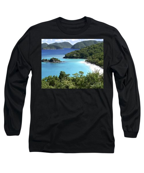 Long Sleeve T-Shirt featuring the photograph Trunk Bay II by Carol  Bradley
