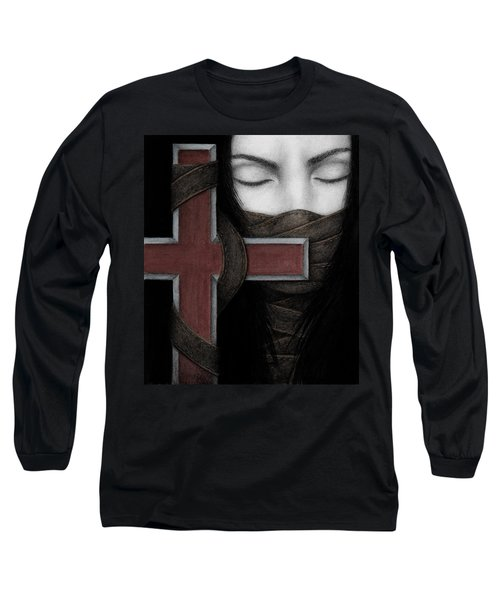 Long Sleeve T-Shirt featuring the painting Tu Non by Pat Erickson