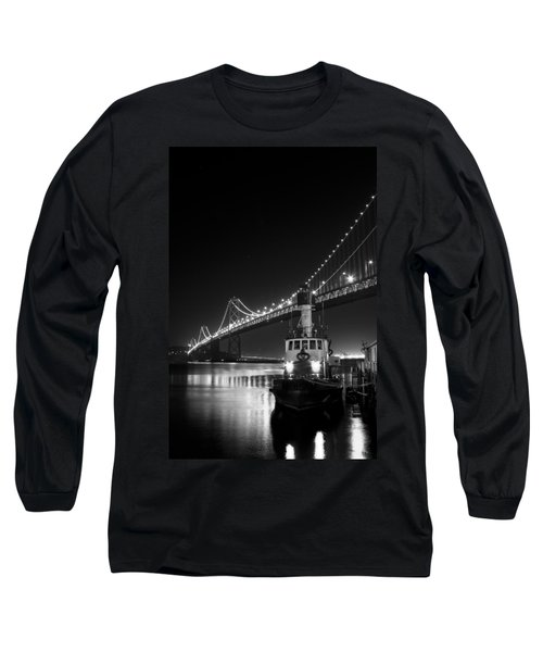 Tugboat Under The Bay Bridge Long Sleeve T-Shirt