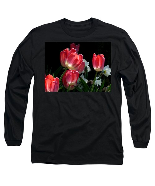 Long Sleeve T-Shirt featuring the photograph Tulips And Daffodils by Lucinda Walter