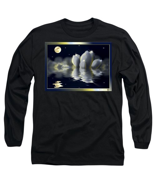 Tulips And Moon Reflection Long Sleeve T-Shirt