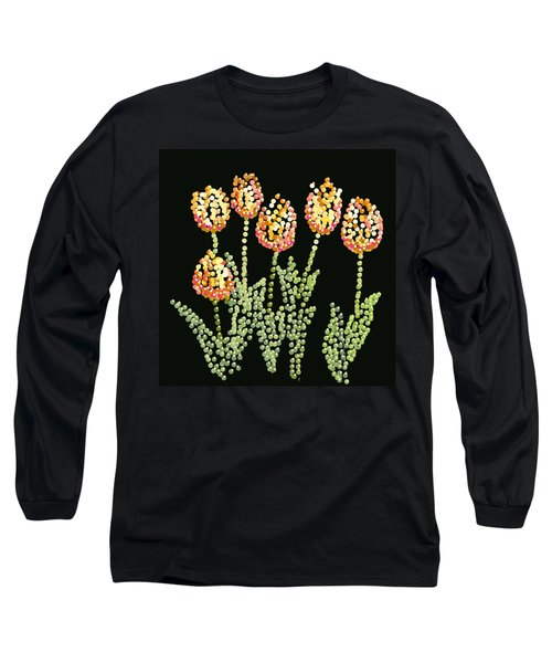 Tulips Bedazzled Long Sleeve T-Shirt