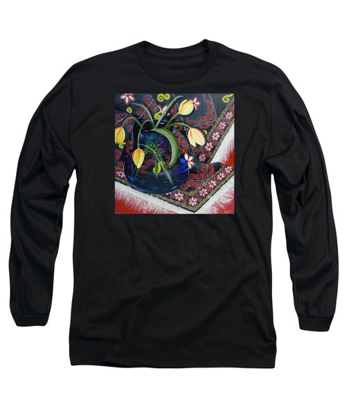 Tulips Long Sleeve T-Shirt by Helen Syron