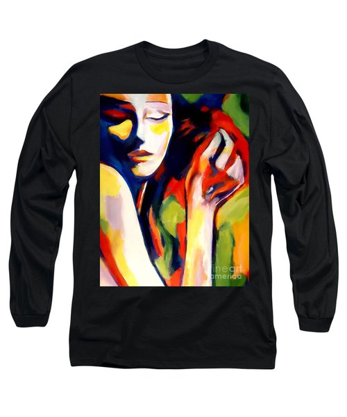 Long Sleeve T-Shirt featuring the painting Tuning by Helena Wierzbicki