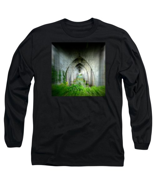 Long Sleeve T-Shirt featuring the photograph Tunnel Effect by Nick Kloepping