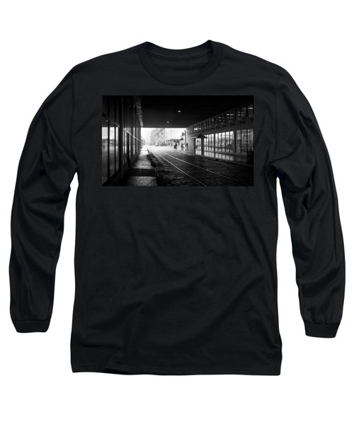 Tunnel Reflections Long Sleeve T-Shirt by Lynn Palmer