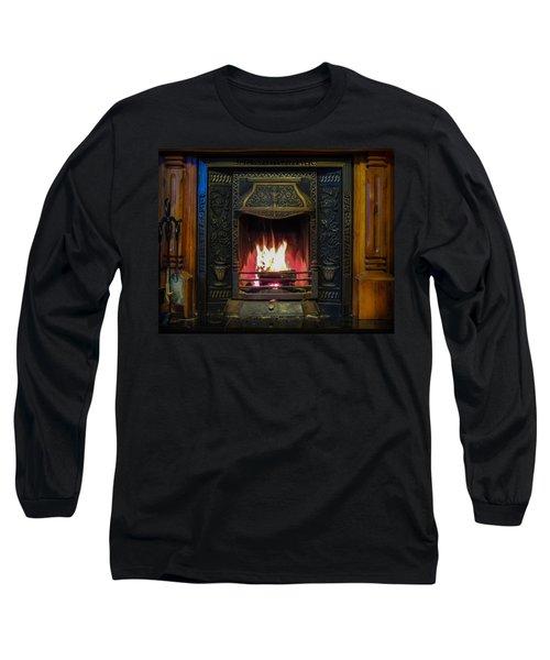 Turf Fire In Irish Cottage Long Sleeve T-Shirt