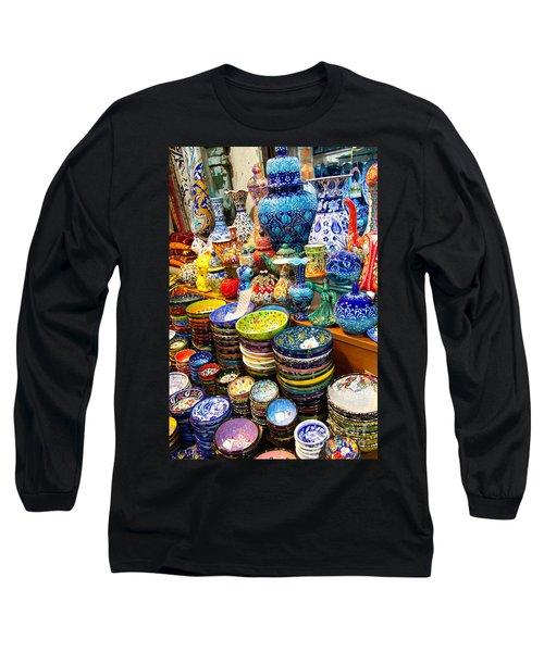 Turkish Ceramic Pottery 1 Long Sleeve T-Shirt by David Smith