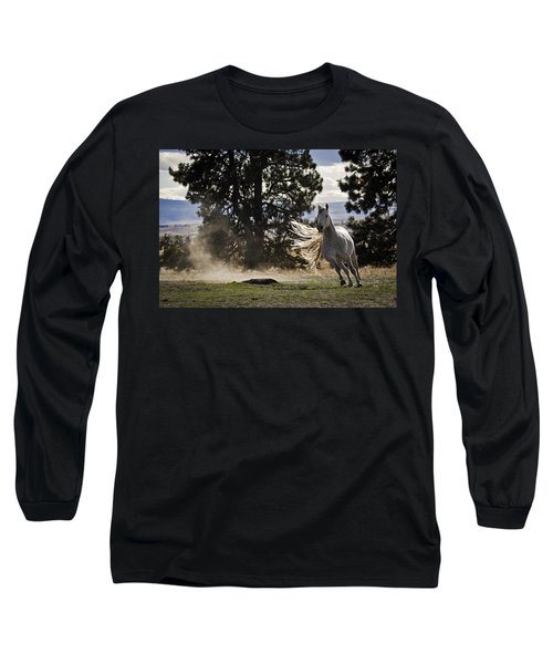 Long Sleeve T-Shirt featuring the photograph Turning On A Dime D3512 by Wes and Dotty Weber