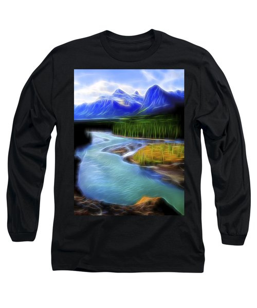 Turquoise Light 1 Long Sleeve T-Shirt by William Horden