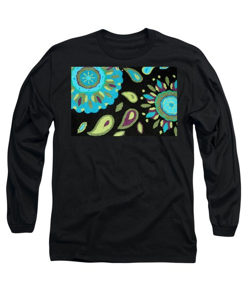 Long Sleeve T-Shirt featuring the photograph Tapestry Turquoise Rug by Janette Boyd