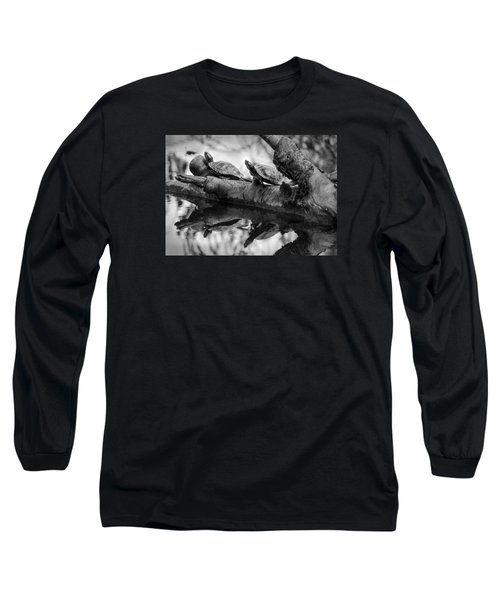 Turtle Bffs Bw By Denise Dube Long Sleeve T-Shirt