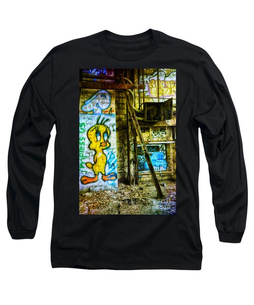 Long Sleeve T-Shirt featuring the photograph Tweety by Debra Fedchin