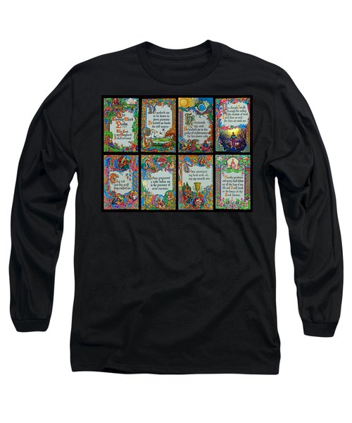 Twenty Third Psalm Collage 2 Long Sleeve T-Shirt