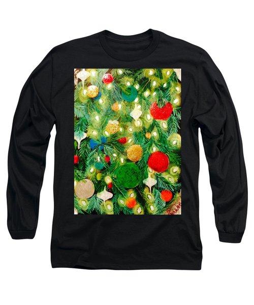 Twinkling Christmas Tree Long Sleeve T-Shirt