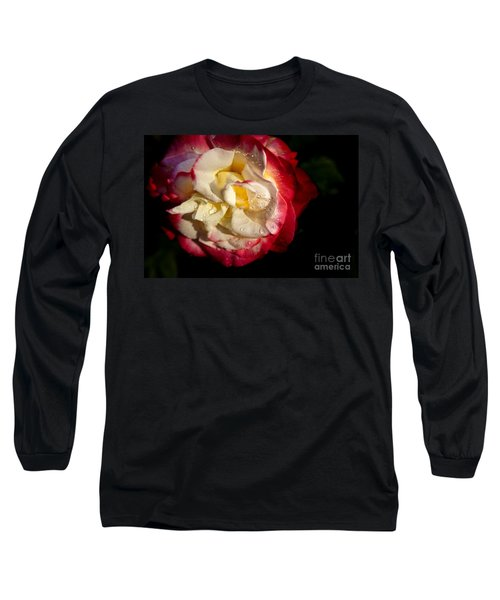 Two Color Rose Long Sleeve T-Shirt by David Millenheft