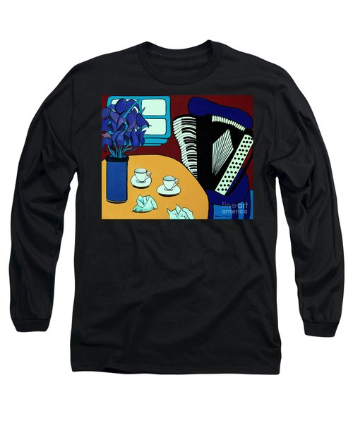Two Cups One Accordian Long Sleeve T-Shirt