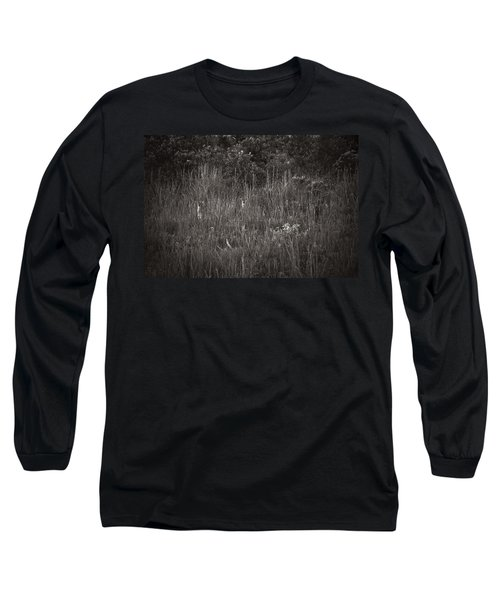 Two Deer Hiding Long Sleeve T-Shirt by Bradley R Youngberg