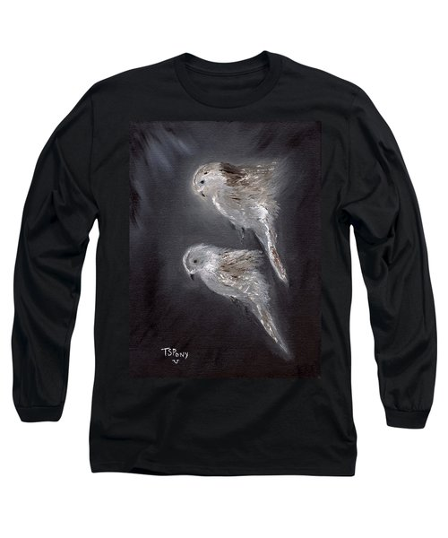 Long Sleeve T-Shirt featuring the painting Two Spirits In The Night by Barbie Batson