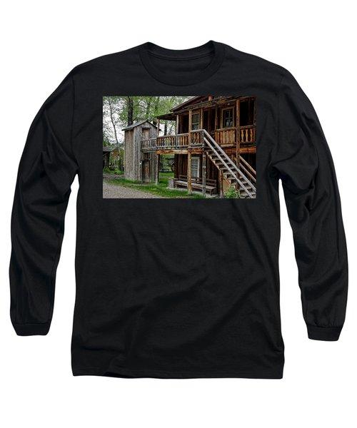 Two Story Outhouse - Nevada City Montana Long Sleeve T-Shirt