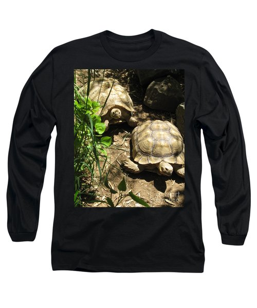 Two Tortoises Long Sleeve T-Shirt by CML Brown