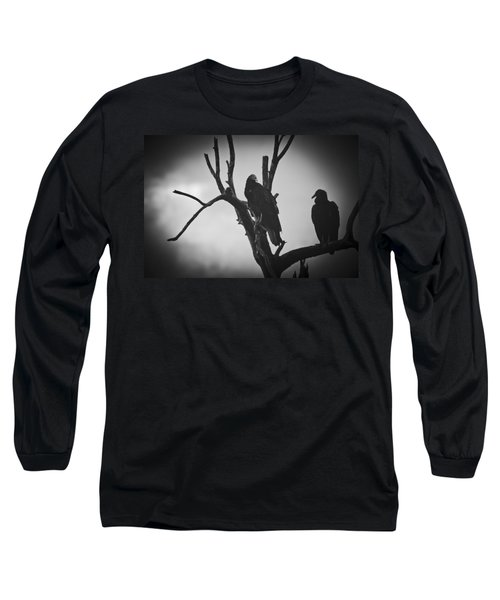 Two Vultures Long Sleeve T-Shirt by Bradley R Youngberg