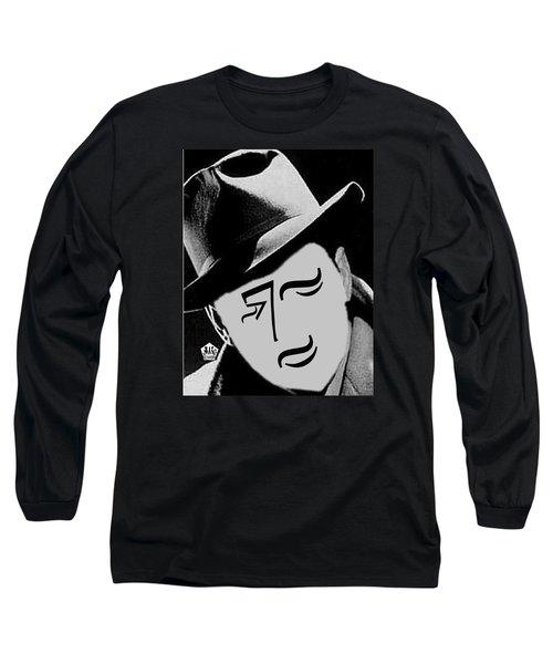 Typortraiture Humphrey Bogart Long Sleeve T-Shirt