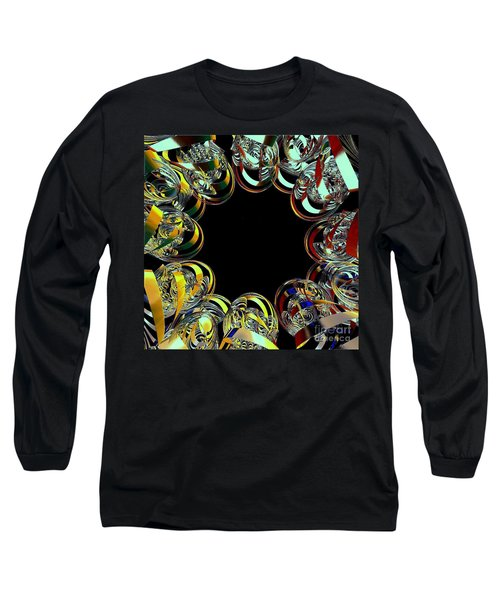 Long Sleeve T-Shirt featuring the digital art U Of M Robot Huddle by Greg Moores
