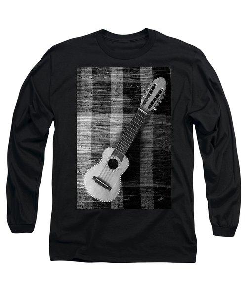 Ukulele Still Life In Black And White Long Sleeve T-Shirt