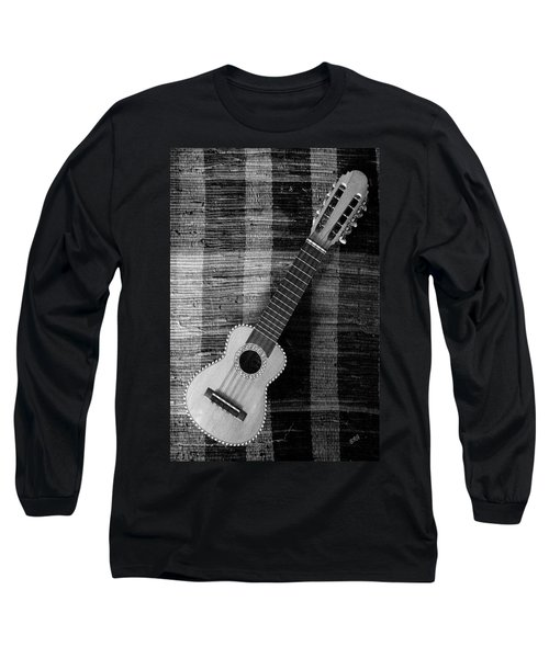 Ukulele Still Life In Black And White Long Sleeve T-Shirt