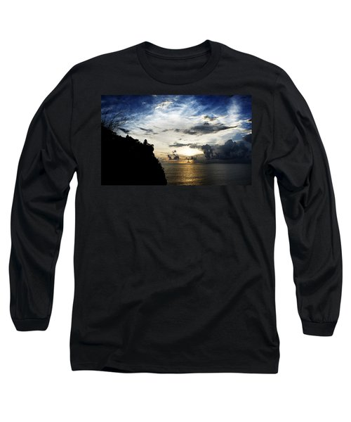 Long Sleeve T-Shirt featuring the photograph Uluwatu Temple by Yew Kwang
