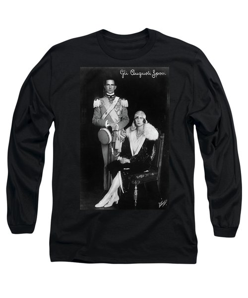 Umberto II And Marie Jose Long Sleeve T-Shirt by Granger