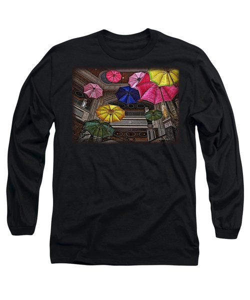 Umbrella Fun Long Sleeve T-Shirt by Joan  Minchak