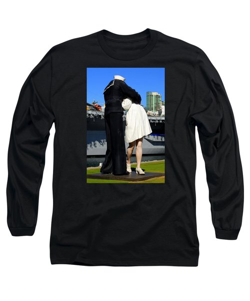 Long Sleeve T-Shirt featuring the photograph Unconditional Surrender Kiss by Caroline Stella