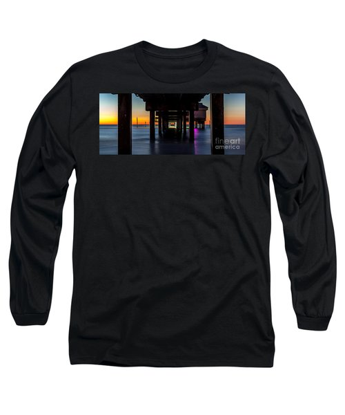 Under Clearwater Beach Pier Long Sleeve T-Shirt by Steven Reed