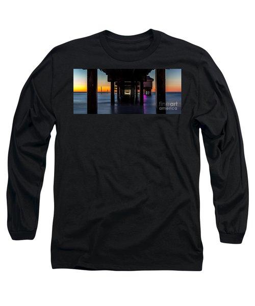Under Clearwater Beach Pier Long Sleeve T-Shirt