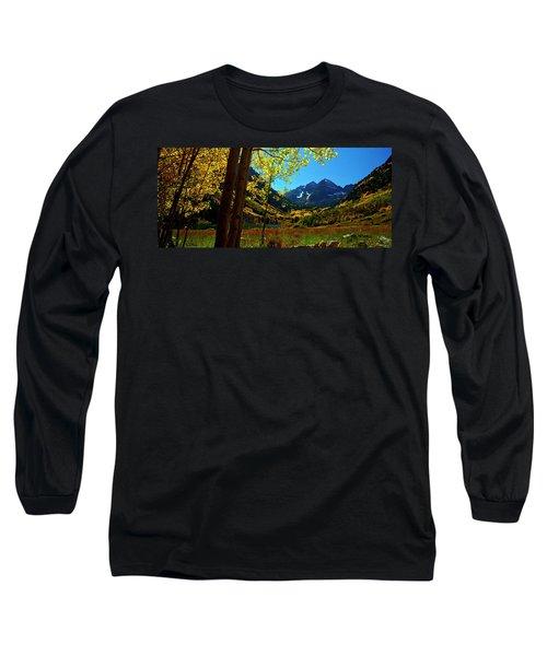 Under Golden Trees Long Sleeve T-Shirt by Jeremy Rhoades