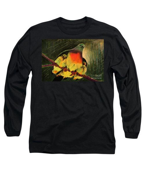 Long Sleeve T-Shirt featuring the painting Under His Wings by Hazel Holland