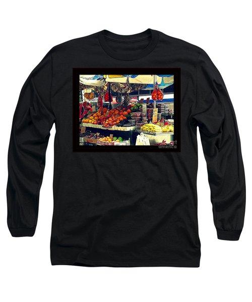 Long Sleeve T-Shirt featuring the photograph Under The Umbrellas by Miriam Danar