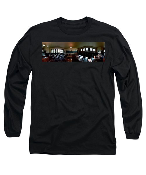 Long Sleeve T-Shirt featuring the photograph Union  Illinois One Room School House by Tom Jelen