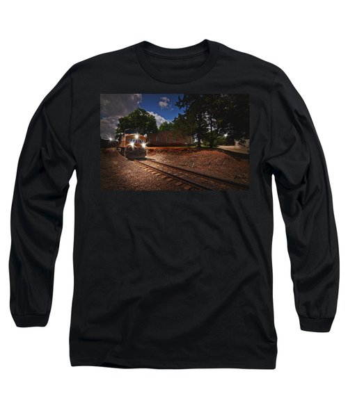 Union Pacific 7917 Train Long Sleeve T-Shirt by Linda Unger
