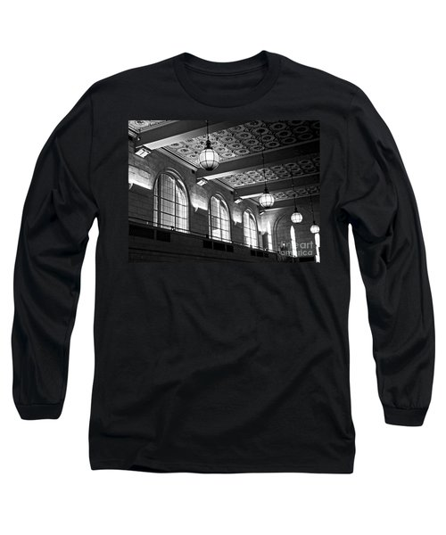 Union Station Balcony - New Haven Long Sleeve T-Shirt by James Aiken
