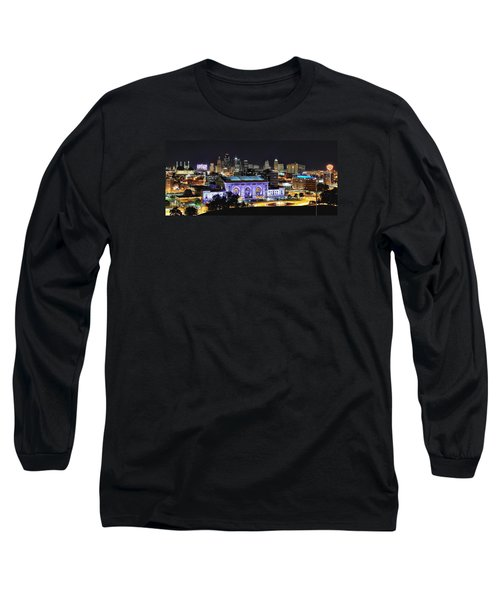 Union Station In Purple Long Sleeve T-Shirt