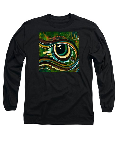 Long Sleeve T-Shirt featuring the painting Unique Spirit Eye by Deborha Kerr