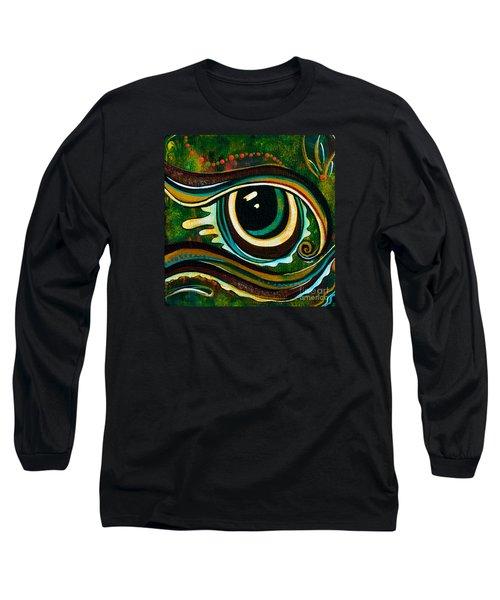 Unique Spirit Eye Long Sleeve T-Shirt by Deborha Kerr