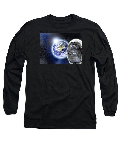 Alone In The Universe Long Sleeve T-Shirt by Stefano Senise