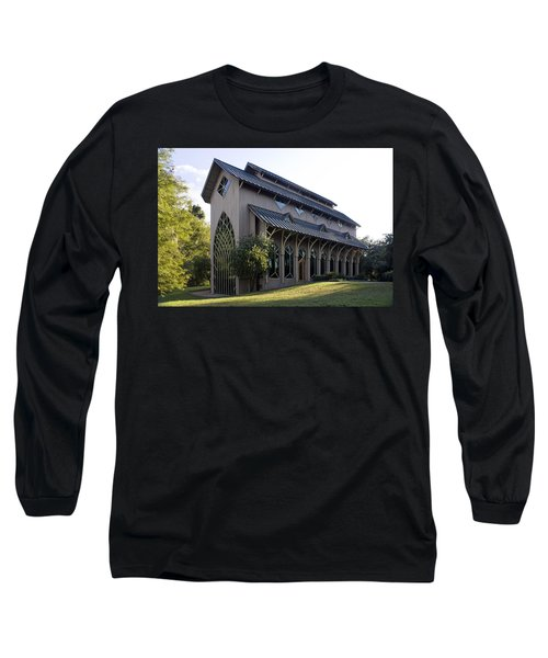 Long Sleeve T-Shirt featuring the photograph University Of Florida Chapel On Lake Alice by Lynn Palmer