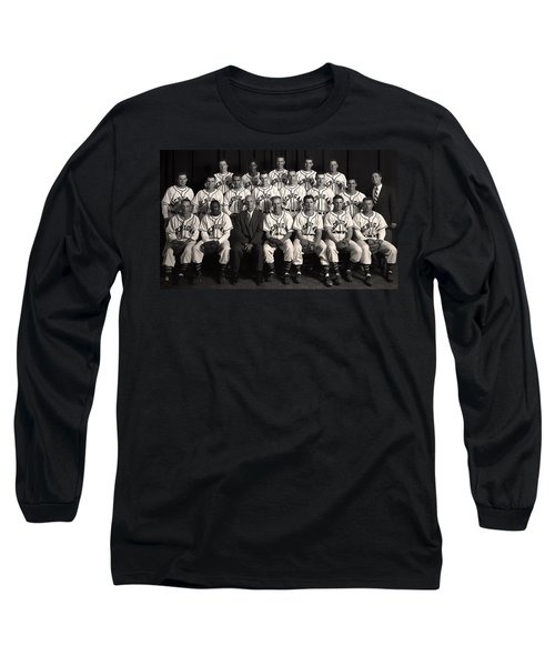 University Of Michigan - 1953 College Baseball National Champion Long Sleeve T-Shirt by Mountain Dreams