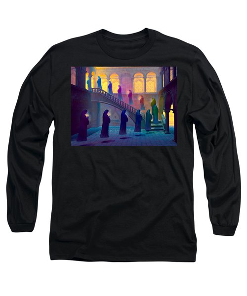 Long Sleeve T-Shirt featuring the painting Uplifting Prayer by Dave Luebbert