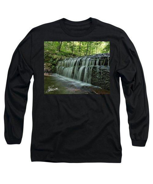 Upper Falls At Stillhouse Hollow Long Sleeve T-Shirt